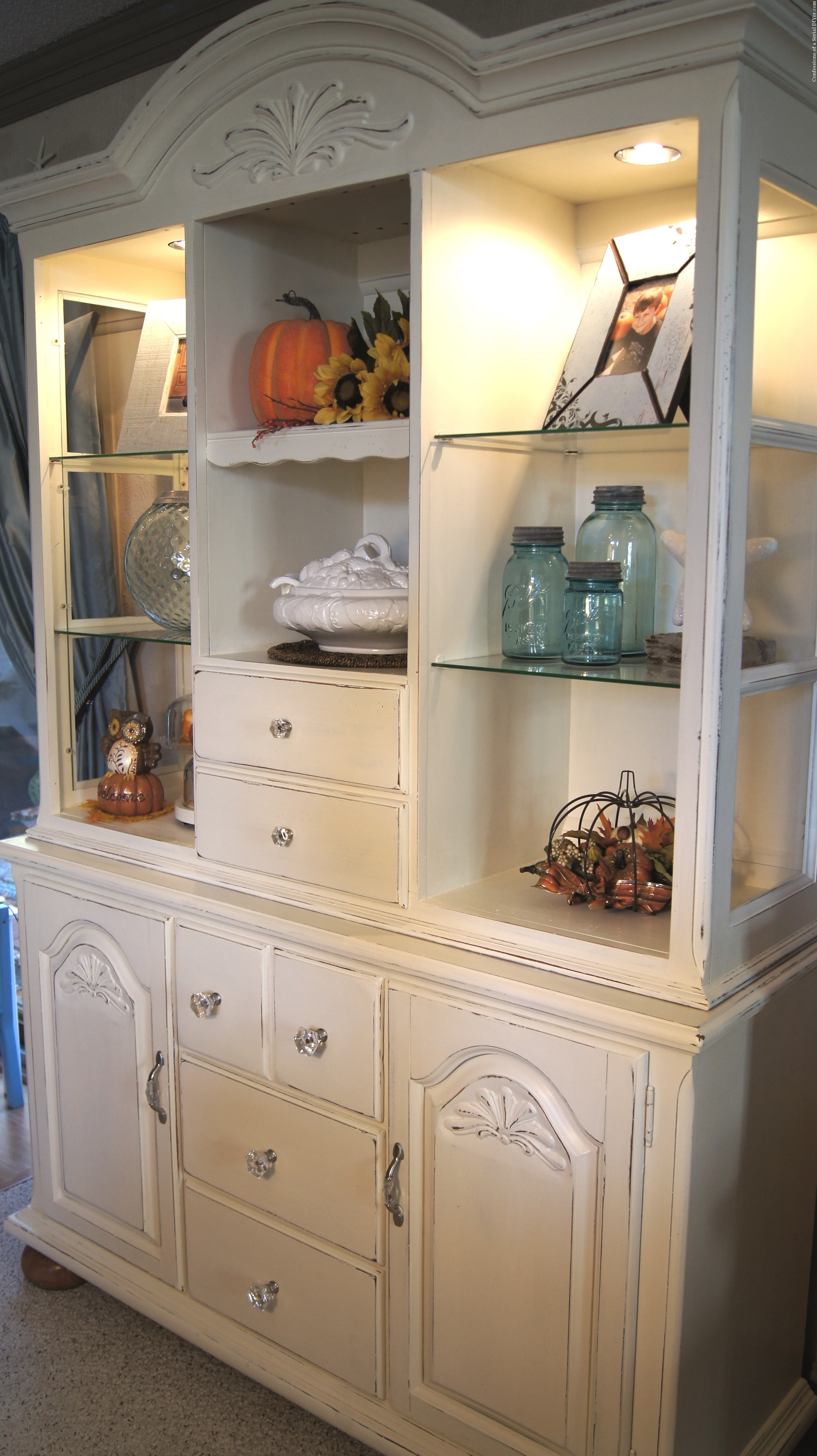 black hutch china addict makeover cabinet pinterest