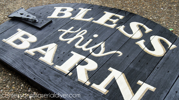 Bless this Barn sign from an old gate