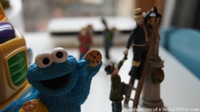 Cookie Monster, are you Sharing your cookies with those nice townsfolk?