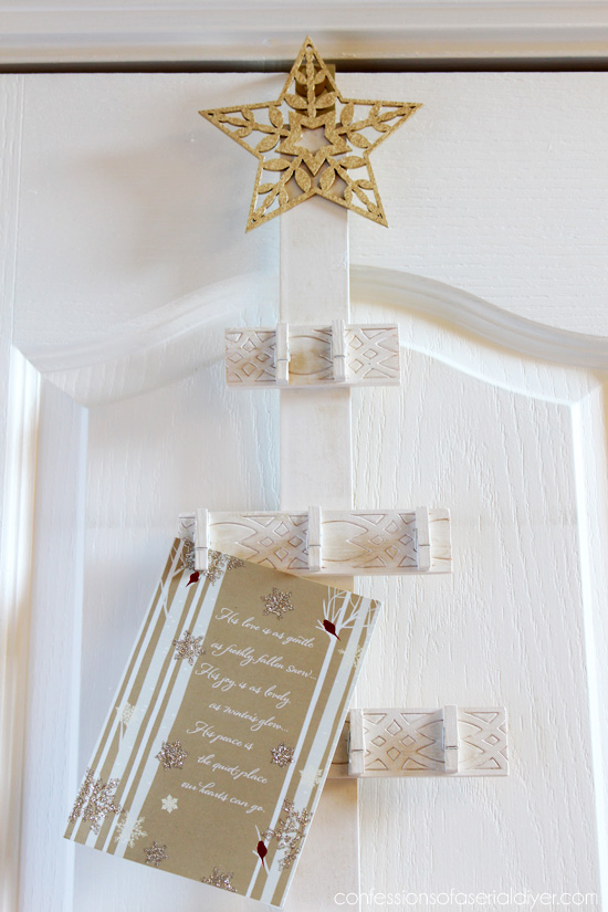 How to Make a Christmas Tree Card Holder | Confessions of a Serial ...