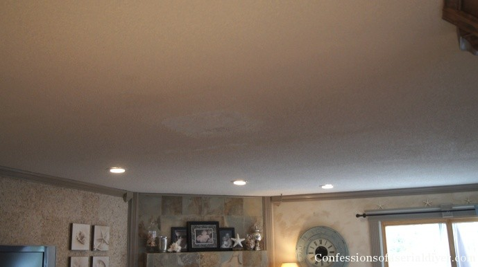 Ugly popcorn ceiling