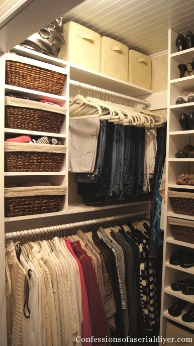 Master closet makeover part 1 confessions of a serial for Adding a walk in closet