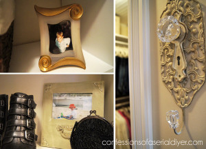 Decorate your closet with things you love also!