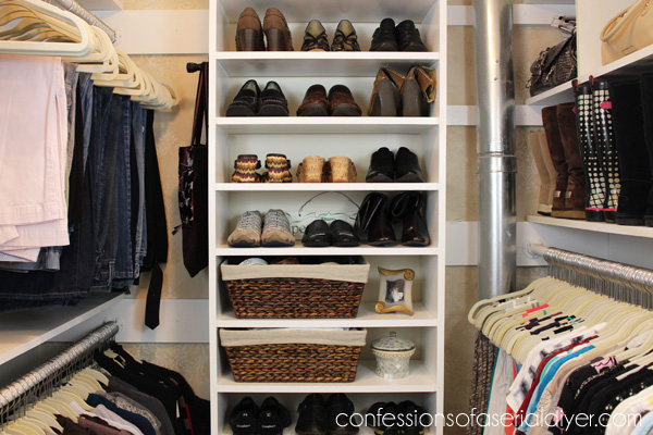 Closet redo using every available inch