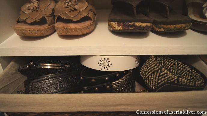 Basket for belts