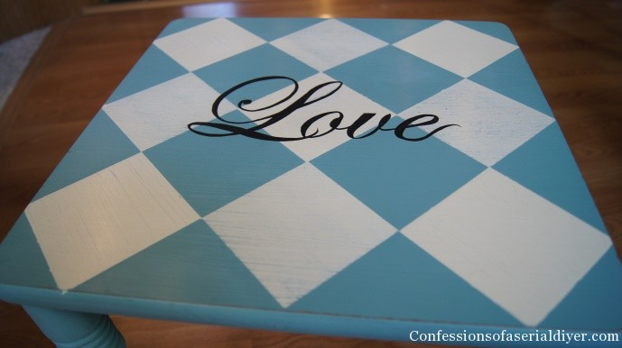 Hand Painted Love table