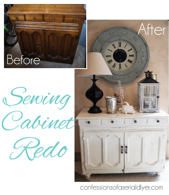 Sewign Cabinet Makeover with Annie Sloan Chalk Paint