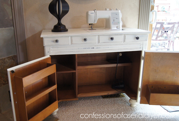Painted Sewing Cabinet