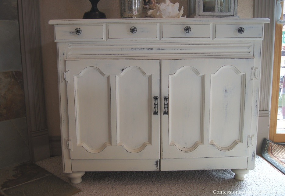 Annie sloan painted cabinet old white
