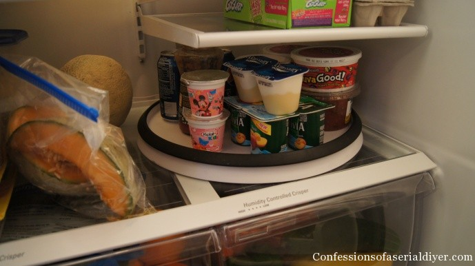 lazy susan in fridge