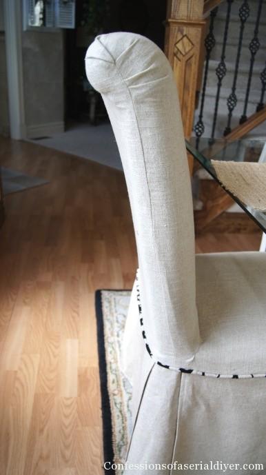 slip covered parson's chair