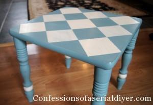 Diamond painted table