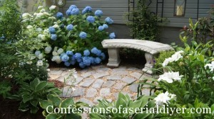 Recycled Granite Block Patio