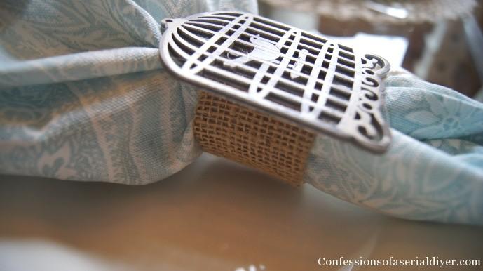 Birdhouse napkin rings