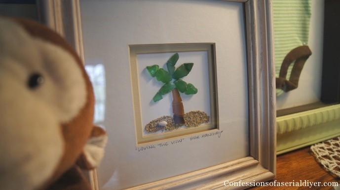 Palm tree glass