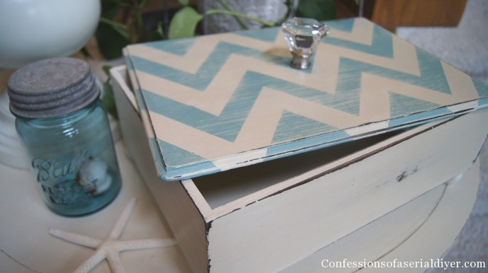Chevron painted box
