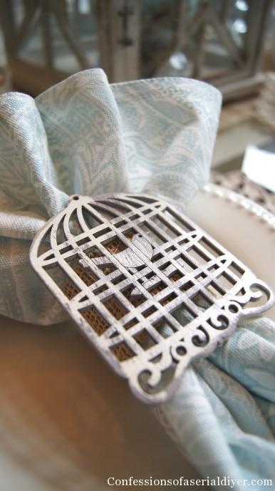 Birdcage napkin rings