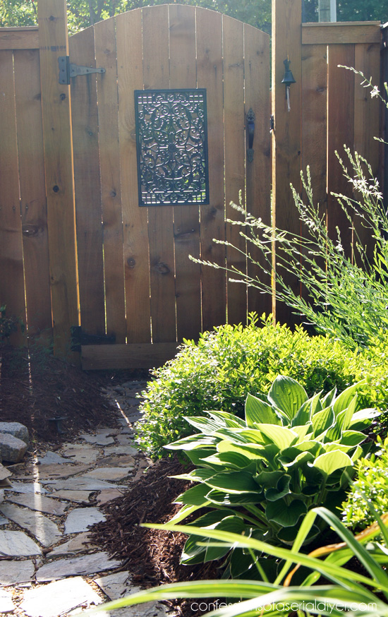 DIY Gate with Window from Nuvo Iron. Confessions of a Serial Do-it-Yourselfer