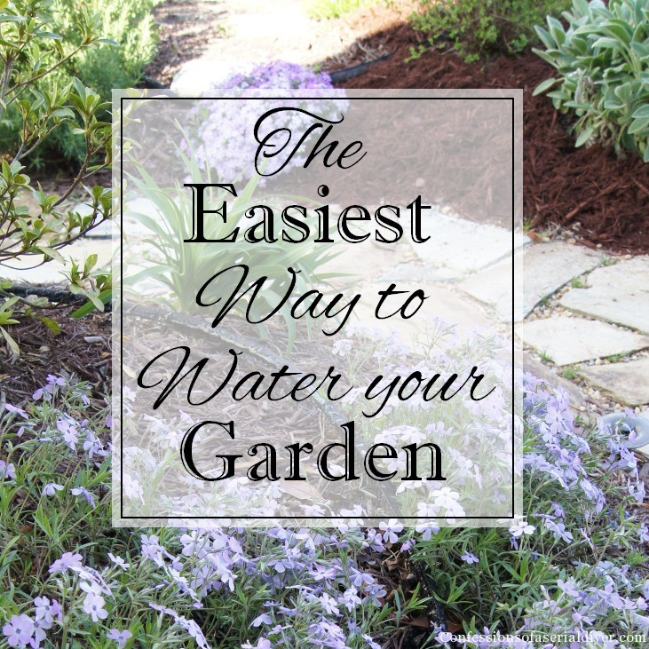 This is the easiest way I've found to water your garden when you don't have an in-ground sprinkler system!