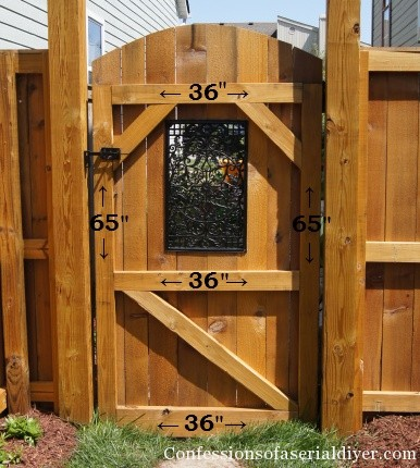 How a girl built a gate confessions of a serial do it for Diy fence gate designs