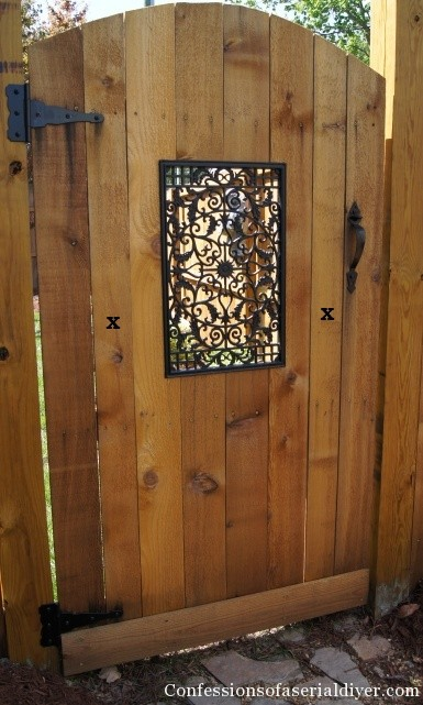 Woodwork diy wooden gate projects pdf plans for Outdoor garden doors