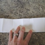 Fold in half lengthwise two times.