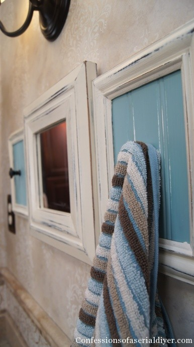 Towel rack from pld picture frames