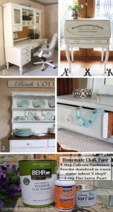 Sewing Stool Redo & Chalk Paint Recipe Revealed