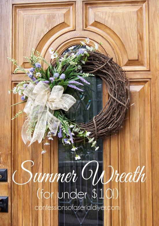 Summer Wreath for under $10!