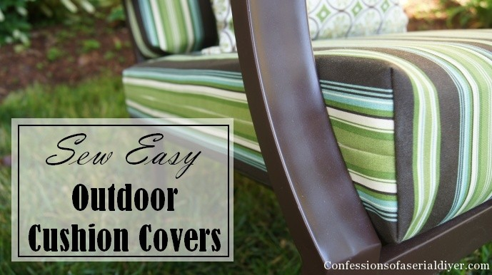 Sew easy outdoor cushion covers oldie but goodie for Garden furniture seat cushion covers