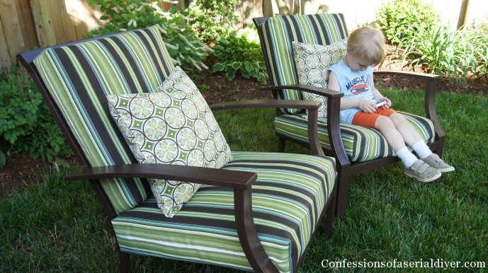 How to sew outdoor cushions the easy way!
