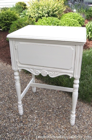 Painted sewing table