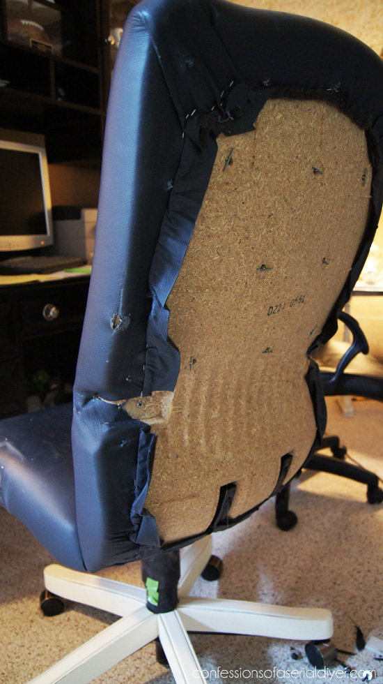 reupholstering an office chair. desk chair recovered reupholstering an office