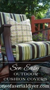 Sew Easy Outdoor Cushion Cover Tutorial/Confessions of a Serial Do-it-Yourselfer