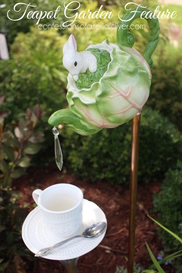 Tea pot garden feature tutorial.