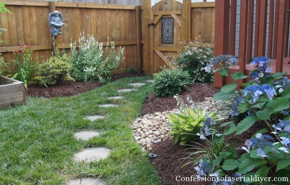 back yard makeover one year later confessions of a