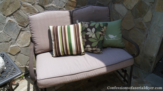 And Now How To Cover Outdoor Cushions