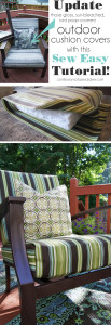 Update your Outdoor Cushion Covers with this SEW SUPER EASY cushion cover tutorial from Confessions of a Serial Do-it-Yourselfer