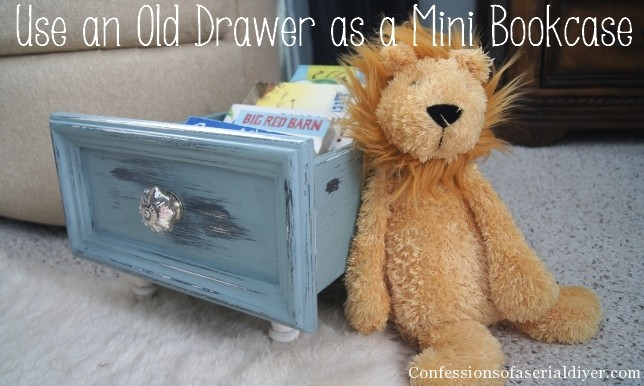 Use an Old Drawer for a Mini Bookcase