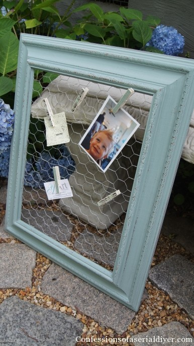 message board form chicken wire