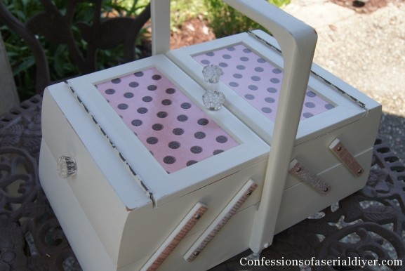 sewing box makeover
