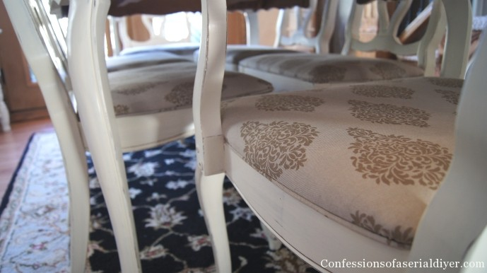 How To Add Piping To Dining Room Chairs Confessions Of A Serial Do Impressive How To Reupholster A Dining Room Chair