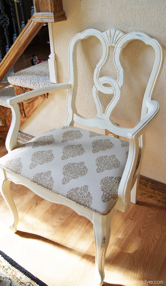 Painting Dining Room Chairs with Annie Sloan Old White Chalk Paint