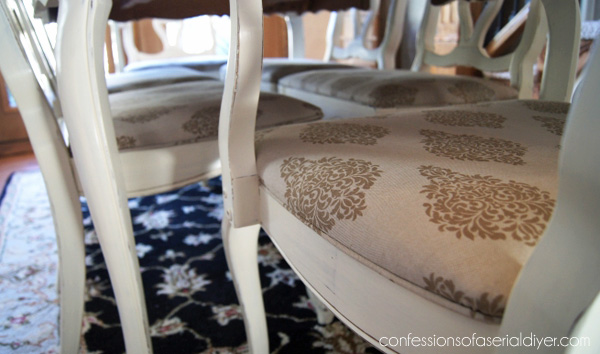 Dining Chair Piping..so easy to do!