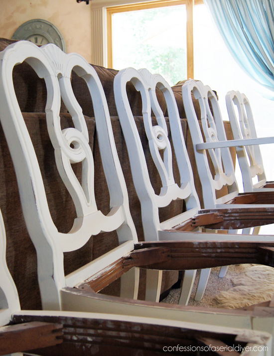 Old Wooden Dining Room Chairs dining table makeover, take one | confessions of a serial do-it