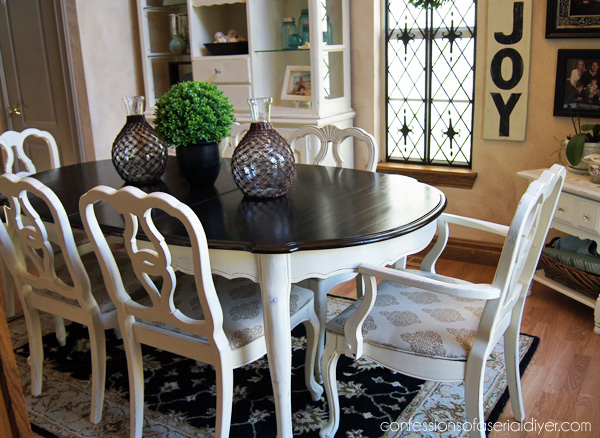 ae0f4480010 Dining room table makeover with Minwax Polyshades in Espresso
