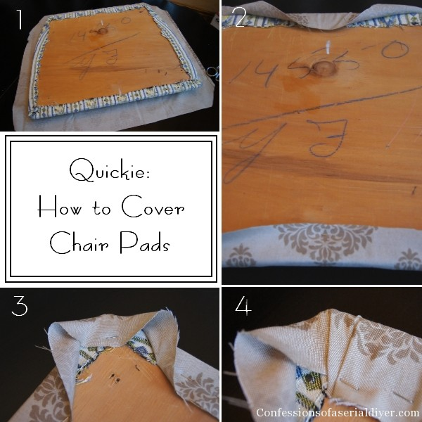 How to cover chair pads