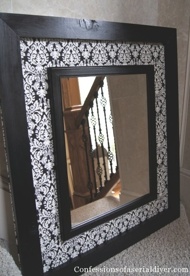 Diy Fabric Mirror