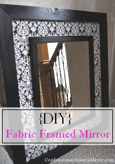 DIY Fabric Framed Mirror