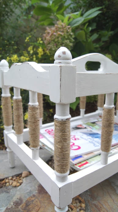 coastal cottage magazine rack makeover